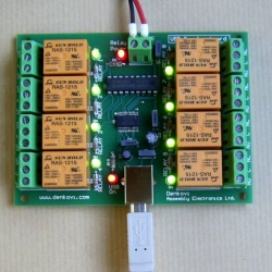 Denkovi USB Eight Channel Relay Board